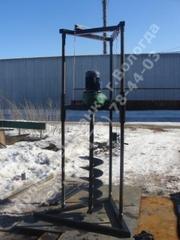 Малогабаритная буровая установка для сухого бурения (ямобур)