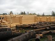 Изготовление срубов на заказ из зимнего леса
