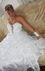 Свадебное платье с кольцами.